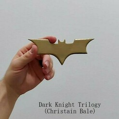 Dark Knight.jpeg Download STL file Dark Knight Batarang • 3D printable model, Calgary_Prints