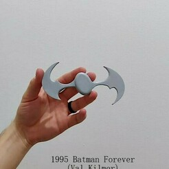 1995 Silver.jpeg Download STL file 1995 Batarang • 3D printable design, Calgary_Prints