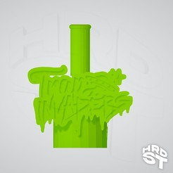 Fr Trap invaders boquilla.jpg Download OBJ file Cachimba Trap Invaders Mouthpiece • 3D print template, Hardest3Dworks