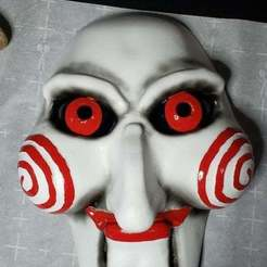 20201028_201708_Large.jpg Download free 3MF file Billy The Doll From Saw/Jigsaw - Mask! • 3D printer model, guido66611x