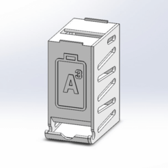 PTW-36-1-AD-0337_Top_Assembly_-_AAA.png Download free STL file Battery Dispenser - 36x AAA - Stackable • 3D print model, guido66611x