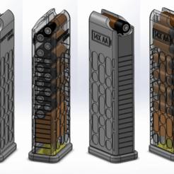 PTW-38-1-AD-0345_Top_Assembly_AA.png Télécharger fichier STL gratuit BatteryMag - Distributeur 14x AA • Modèle imprimable en 3D, guido66611x