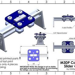 1.jpg Download STL file Mostly 3D Printed Camera Slider v1.0 • 3D print template, DDDprint