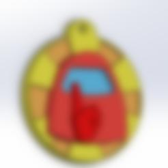 clauer definitiu.STL Download STL file Among us key chain • 3D print template, Nom3Da