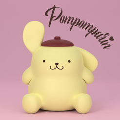 Pompompurin Instagram (Coloured).png Download free STL file Pompompurin ポムポムプリン • 3D printing model, samuelwhitby