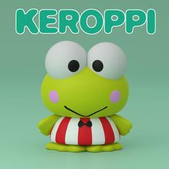 Keroppi Instagram (Coloured).png Télécharger fichier STL gratuit Keroppi けろけろけろっぴ (Kerokerokeroppi) • Plan à imprimer en 3D, samuelwhitby