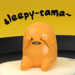 Instagram Thumbnail (Coloured).png Download free STL file Sleepy-tama - Gudetama ぐでたま • 3D printable model, samuelwhitby