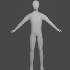 3572-base-character-ready-to-animate.png Télécharger fichier STL Modèle Lowpoly à base humaine • Design à imprimer en 3D, nikhilmohan