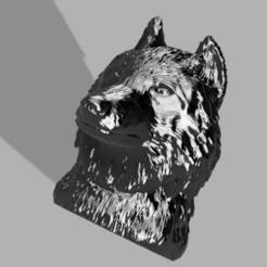 Loup 1.PNG Télécharger fichier STL Loup Porte Clef • Design pour impression 3D, GuillaumeRobot