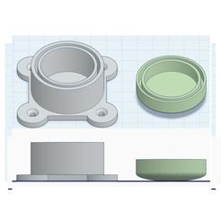 Download free STL file SOPORTE Y TACÓN DE PATAS DE ACERO INOX DIAM 42.5 • Model to 3D print, diegohidalgorol