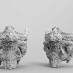 untitled.83.jpg Download OBJ file Aflame Halfmask • 3D printer model, BLVCKGVLD