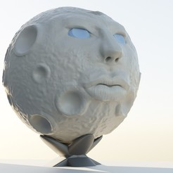CG.jpg Download STL file Lady Moon • 3D print object, PatrickPeiter
