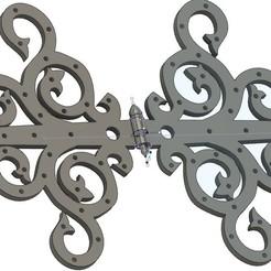 Screenshot 2020-11-08 00.00.52.jpg Download OBJ file Decorative Hinge • 3D printable template, eyesofahunter