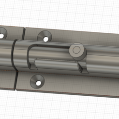 Screenshot 2020-10-19 16.26.02.png Download STL file Barrel Bolt lock 3D print model • 3D printer template, eyesofahunter
