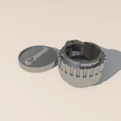01.effectsResult.png Download STL file Canon 24mm Lens Case • 3D printable template, chiniro