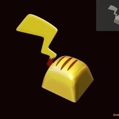 PikachuBueno.jpg Download STL file Pikachu key • 3D print template, Mad3D