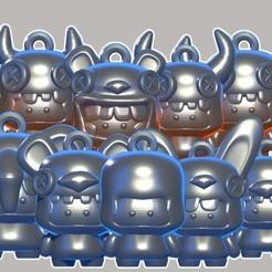 Coleccion llaveros disfracin.jpg Download STL file Keyrings Disguise • 3D print design, SRT