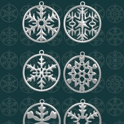 cops03.jpg Download free STL file Snowflakes V.02 • 3D print object, SRT