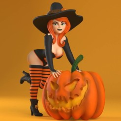 witch_03.jpg Download STL file Sexy Halloween • Model to 3D print, EmpireFigures