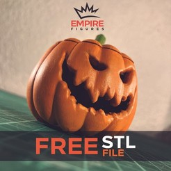 A01.jpg Download free STL file Jack-O halloween pumpkin • 3D printer object, EmpireFigures