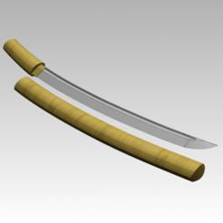 3.png Download STL file Precise Katana with shira saya • Model to 3D print, MS_05L