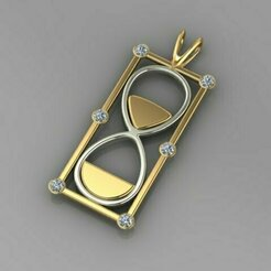 501.jpg Download 3DS file Hourglass Pendant • 3D printable object, Neel6462