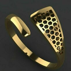 449.jpg Download 3DS file gold ring • 3D printer design, Neel6462