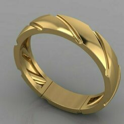 753.jpg Download 3DS file Gold Ring • 3D printing model, Neel6462