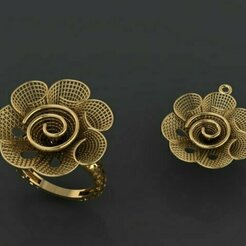 453.jpg Download STL file Gold Ring Pendant • 3D printable design, Neel6462