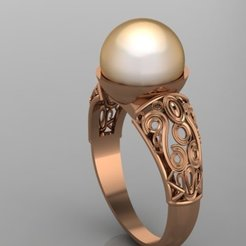 672.jpg Download 3DS file  Pearls Ring • Object to 3D print, Neel6462