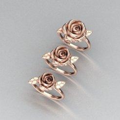 1.jpg Download OBJ file rose ring • 3D print design, Neel6462