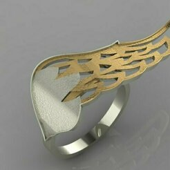 589.jpg Download 3DS file Wings Ring • 3D printing template, Neel6462