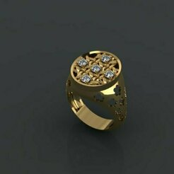 744.jpg Download 3DS file  Wicker ring • Design to 3D print, Neel6462