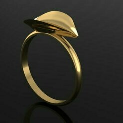 73.jpg Download 3DS file  leaf ring • Model to 3D print, Neel6462