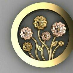 444.jpg Download STL file flower pendant • 3D printable template, Neel6462