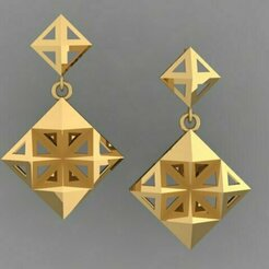 465.jpg Download 3DS file Gold Earring • Template to 3D print, Neel6462