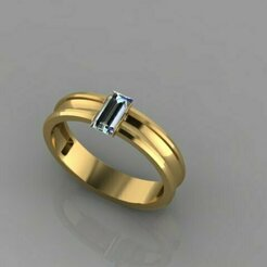 492.jpg Download 3DS file Baguette Ring • Design to 3D print, Neel6462