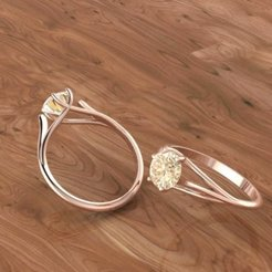 656.jpg Download 3DS file Solitaire ring • Model to 3D print, Neel6462