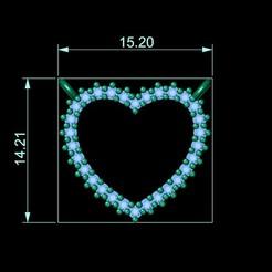 7.jpg Download OBJ file heart necklace • 3D printer design, Neel6462