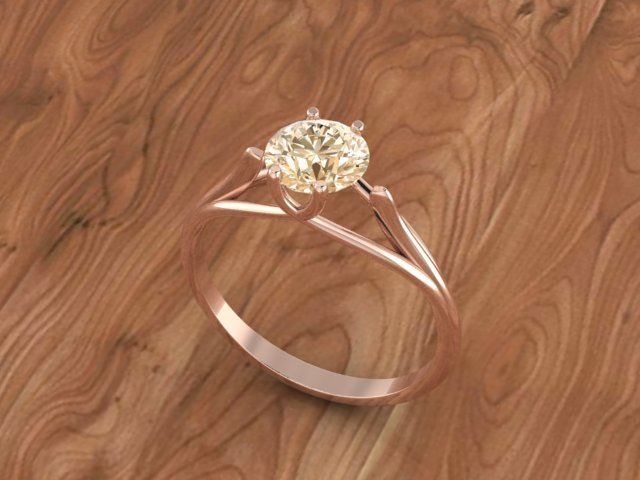654.jpg Download 3DS file Solitaire ring • Model to 3D print, Neel6462