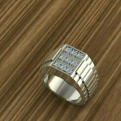 732.jpg Download STL file SILVER RING • 3D print design, Neel6462