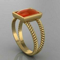 335.jpg Download STL file Signet Diamond Ring • 3D printing model, Neel6462