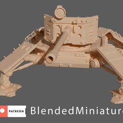 quadra-gunner front 1-preview.jpg Download free STL file quadriped-gunner • Object to 3D print, blendedminiatures