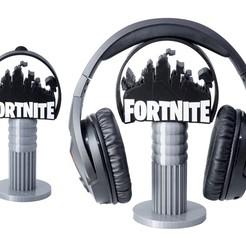 fornite.jpg Download STL file Fornite Headphone Gaming Support Headphones • 3D printer design, pico_metal