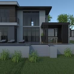 Modern house.jpg Download STL file House  • 3D printable design, dare990
