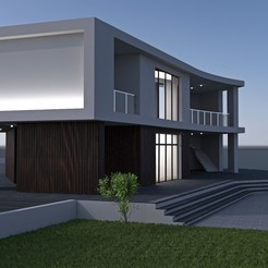 Modern house vray 1.jpg Download STL file House • 3D printer object, dare990