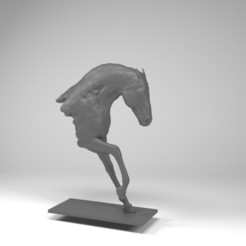 Horse .jpg Download STL file Horse • 3D printable template, dare990