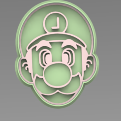 LUIGI.PNG Download STL file Luigi cookie cutter • 3D printing design, ideas3djrz