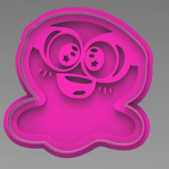 SAM SLIME.PNG Télécharger fichier STL Découpeur de biscuits Sam Slime • Objet pour imprimante 3D, ideas3djrz