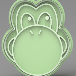 YOSHI.PNG Download STL file Yoshi Cookie Cutter • 3D printer model, ideas3djrz